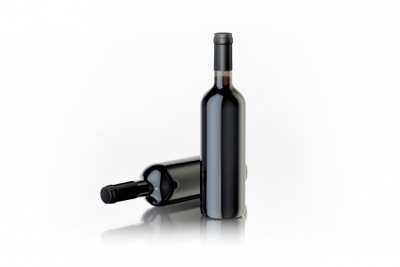 Free 3D Model of a Standard Wine Bottle